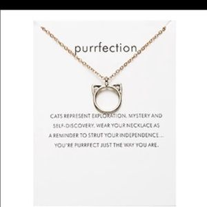 New purrfection kitty cat charm necklace